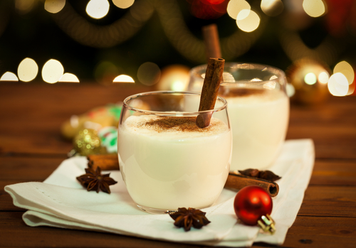 Christmas dessert menus should not exclude holiday favorites such as eggnog and gingerbread houses.