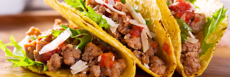 Tacos can be served as an appetizer or a main course, depending on the size of the shell.