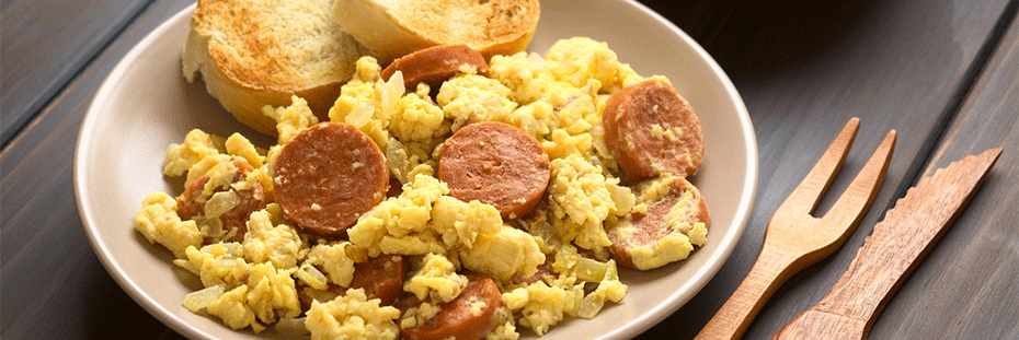 Creamy scrambled eggs can make a delicious, gourmet dinn