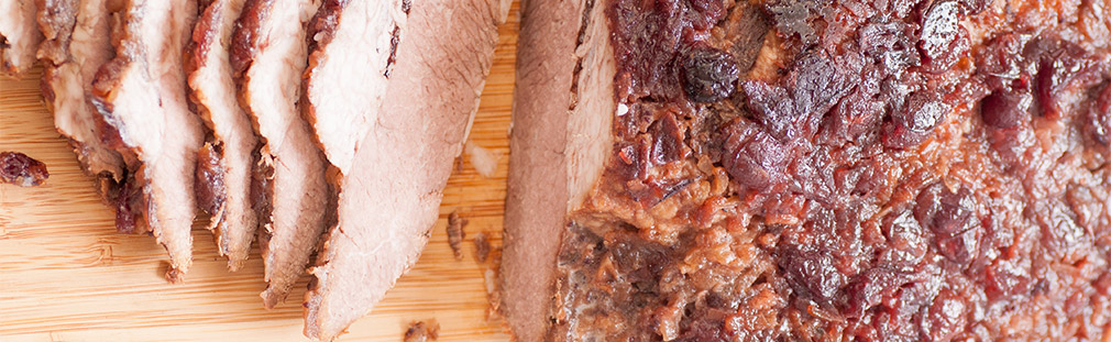 Sweet and sour cranberry brisket