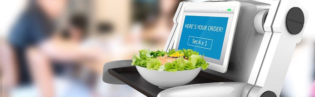 Incorporating robots to cook, clean and serve for restaurants