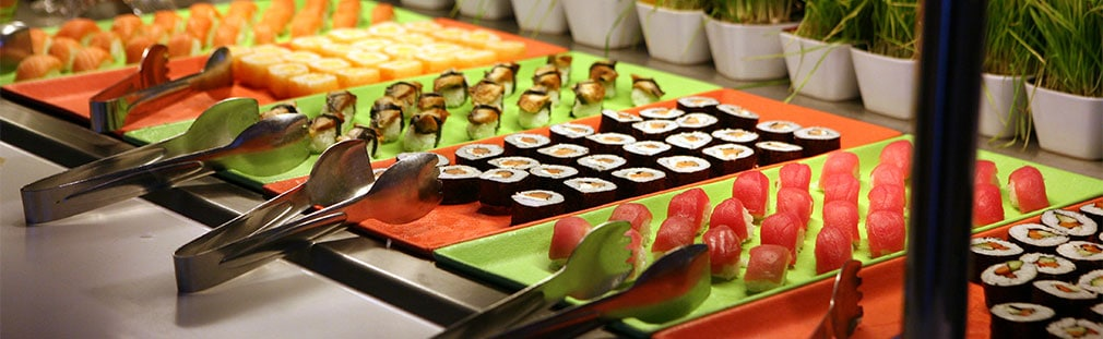 Sushi bar food stations