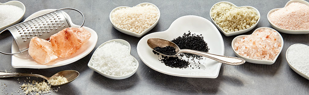 Gourmet salts add color, taste, and visual appeal to everyday recipes.