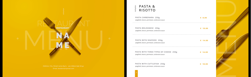Craft a standout restaurant menu that attracts the crowds and sells